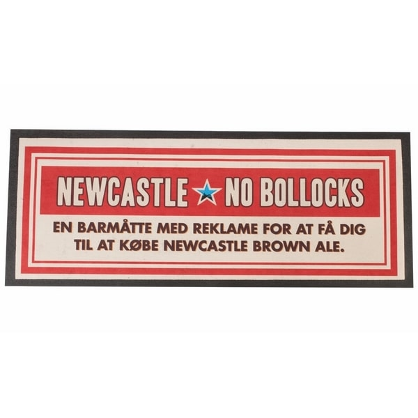 Newcastle Brown Ale bar-runner, No Bollocks