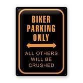 Biker Parking metalskilt
