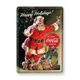 Coca-Cola metalpostkort, Happy Holidays X-mas