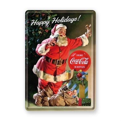 GRATIS: Coca-Cola Happy Holidays julekort i metal