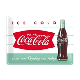 Coca-Cola metalskilt XL, Diner Ice Cold