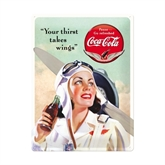 Coca-Cola metalskilt XL, Lady pilot