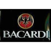 Bacardi mini metalskilt, Label