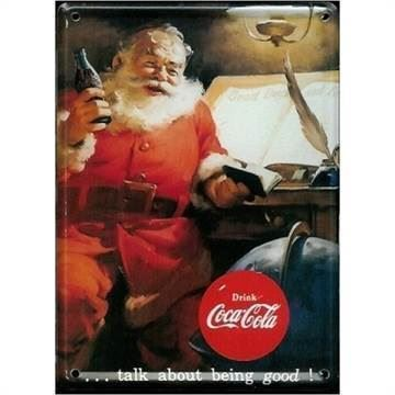 Coca-Cola mini skilt, Santa Talk