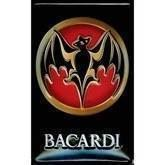 Bacardi metalskilt, Label