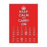 Keep Calm kalender metalskilt