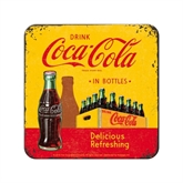 Coca-Cola metal glasbrik, Yellow